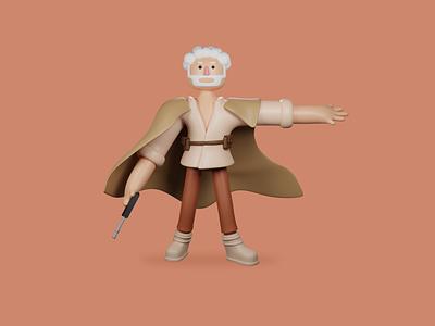 Starwars Fanart - 3D Modeling ilustration environtment design webdesign luke skywalker render blender3d starwars character design 3d