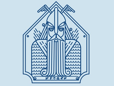 Viking Logo vector logo icon illustration