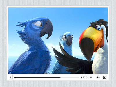 Clean Video Player ui player video psd
