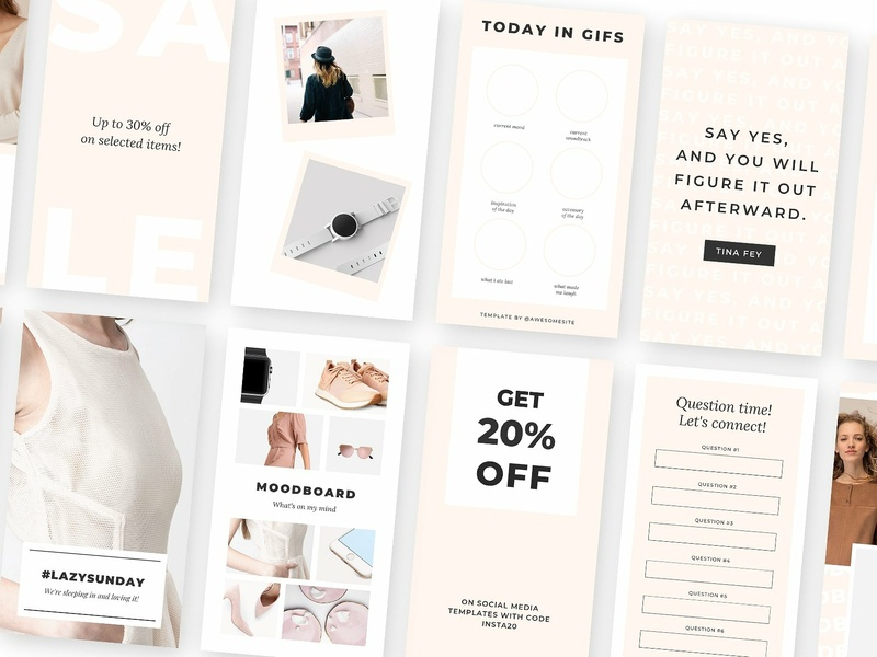 Instagram Stories Templates for Canva social campaign canva template canva media kit instagram stories pack instagram story instagram story template instagram ads instagram instagram design