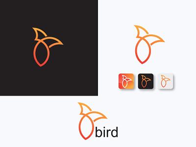 bird logo logotype logo mark symbol logo design logodesign logo mark bird icon bird logo bird symbol vector logo typography phone minimal icon design creative color clean abstract  logo