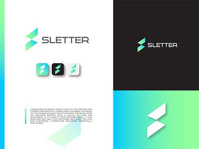 s letter logo design pixel modern media logotype logo letter forum digital creative corporate logo corporate colorful clean business branding brand bold app s