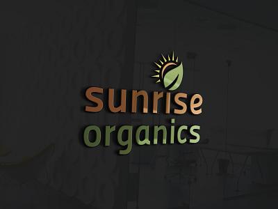 sunrise organics logo vector branding bold clean creative design logodesign logo fooddrink foodphotography foodlogo restaurant food organice sunrise sunrise organics logo