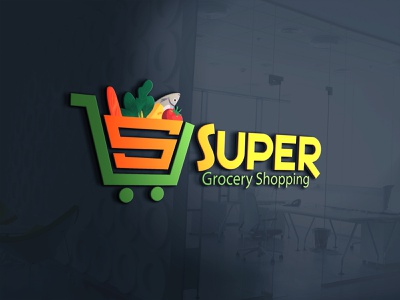 Super Grocery Logo cart grocery store business truck retail store retail business store business organic business market logo market grocery shop grocery shopping grocery supershop logo shop supershop retail dribbble fiverr grapixbylis