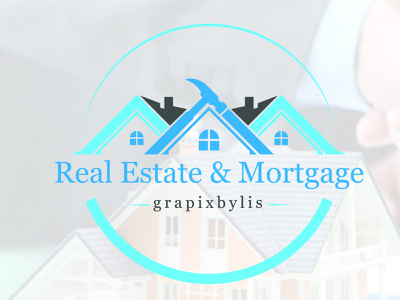 Real Estate Logo house home corporate city branding finance logo modern professional minimalist realty construction mortgage realestate grapixbylis