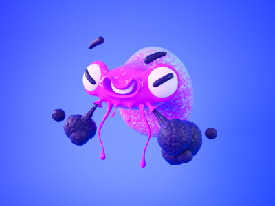 Miketopus geek smoke octopus illustration zbrush 3d