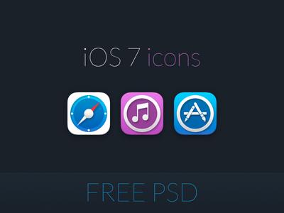 iOS 7 icons ( Free PSD )
