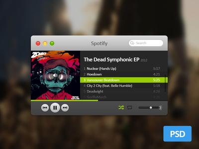 Mini Spotify PSD