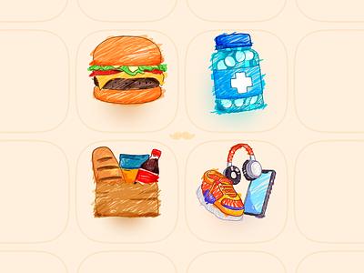 Icons Children's day - Rappi gorappi icon icons children app ecommerce express pharmacy restaurant drawing drawn rappi
