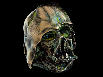 May the 4th be with you helmet moss bronze 3d starwars octane cinema4d cinema darthvader vader