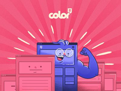 Your Brand Online color al cuadrado sem seo web design illustration color2