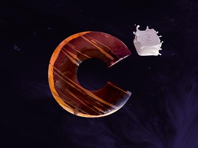 C² Space Donut color al cuadrado color cube milk logo space