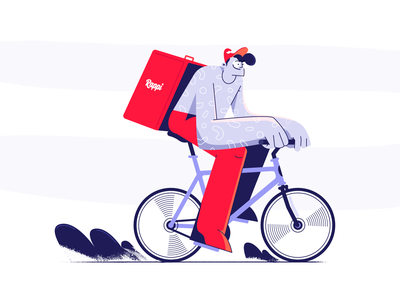 Rappi guy bike fast food fast delivery geeklangel illustration rappitendero rappi