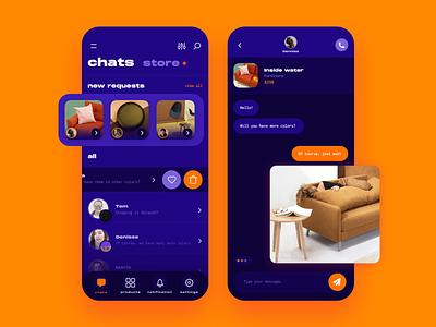 Ecommerce chat design ui chat furniture app furniture ecommerce shop ecommerce app app ecommerce