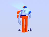 Rappitendero 3D color rappitendero cinema4d zbrush geeklangel illustration rappi