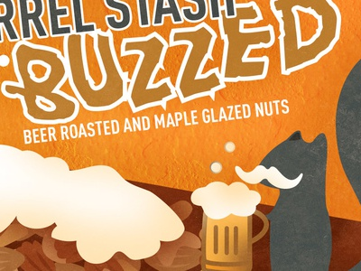 Squirrel Stash Nuts BUZZED Label
