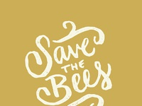 Save the bees dribbble