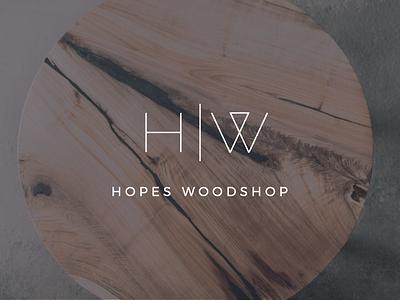Hopes Woodshop Rebrand modern minimal logo woodworking design typography branding