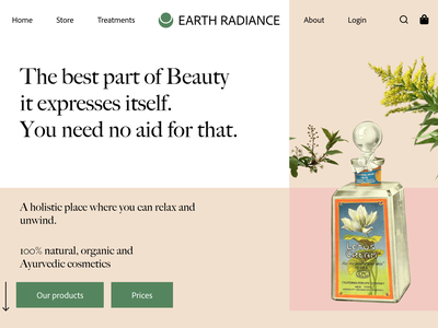Earth Radiance earth beauty ux ui
