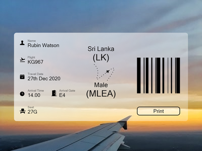 Boarding pass typography branding ui design design communication adobe illustrator love adobexd illustration