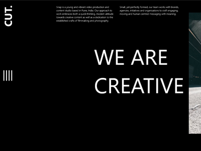Redesigning Film making studio website vector branding typography adobe xd ui design design communication ui ux adobe illustrator adobexd illustration
