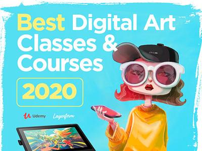 Best Digital Art Classes for 2020 freelancer freelancing freelance graphicdesigner digitalartist art learngraphicdesign learndesign courses udemy graphicdesign digitalart