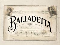 Balladetta Type Project