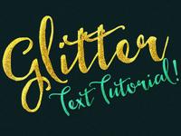 Glitter Text Effect Tutorial