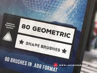 80 Geometric Brushes Pack