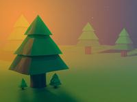 Low Poly Tree - Cinema 4D