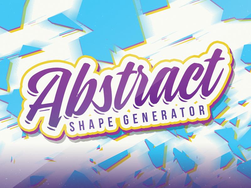 Abstract Vector Shape Generator retro text retro vintage graphicriver creativemarket vectors typography text text effects vector