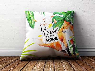 FREE PSD Pillow Mockup pillowdesign pillow creativemarket nickylaatz ianbarnard layerform adobe photoshop psd design psdmockup freepsd free psd pillow mockup psd mockup
