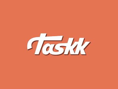 Taskk Typographic Logo Design hand drawn logo design identity branding brand logotype icon mark typography calligraphy