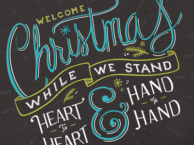 Welcome Christmas lettering christmas vintage christmas card hand drawn hand lettering