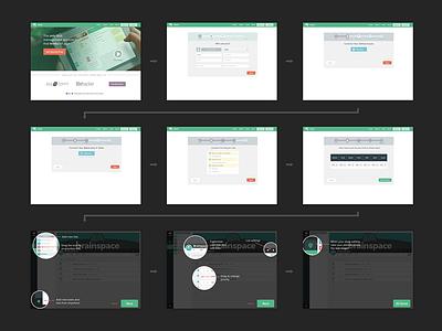 Taskk Onboarding ui layout wireframe keynote