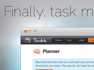 Taskk Homepage Redesign taskk orange homepage task fireworks blue grey