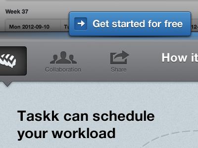 Taskk Shelf taskk orange homepage task fireworks blue grey