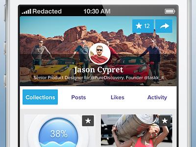 Mobile Profile responsive web app fireworks ios andriod