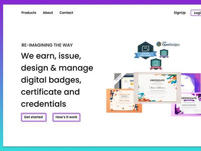 home page website ux flat ui web design
