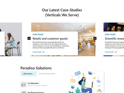 web site blog section ux minimal website ui web design