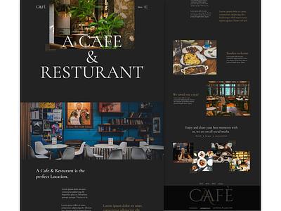 Cafe & Resturant Home page typography minimal logo ui web website design