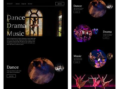 landing page typography minimal web website ui design