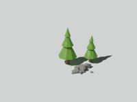 Low poly tree study one