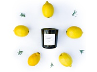 Slow North Essential Oil Candles Lemon Rosemary