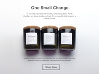 Slow North Essential Oil Candles Homepage