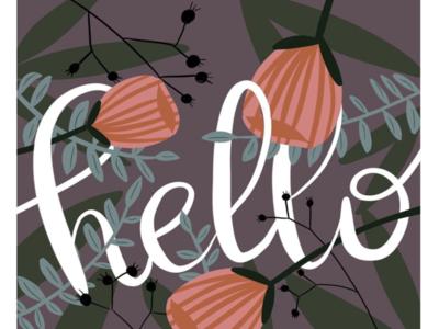 Hello! surfacedesign graphicdesign flat typography design illustration