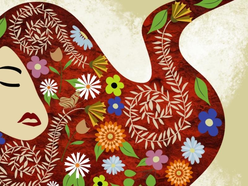 Dreaming of flowers procreate digitalpainting adobefresco flat surfacedesign illustration graphicdesign design