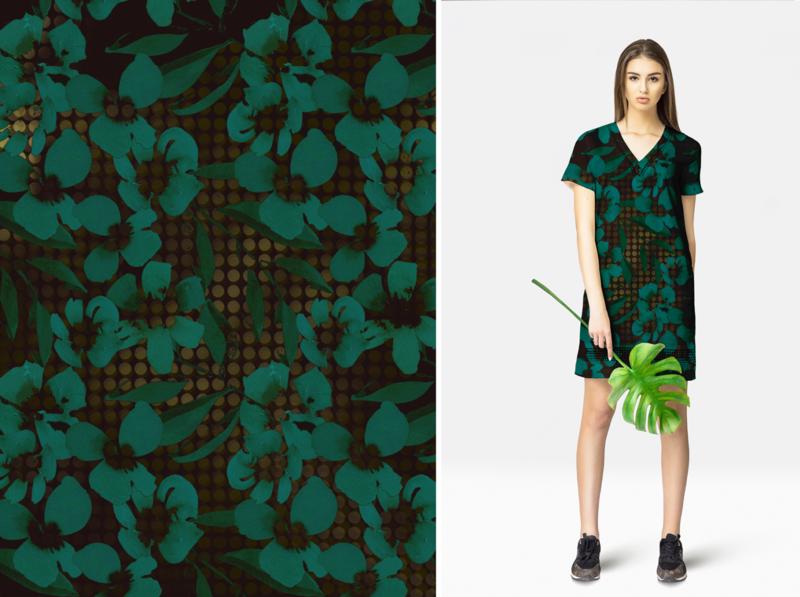 Floating Flowers Pattern digitalpainting adobefresco procreate surfacedesign illustration graphicdesign design