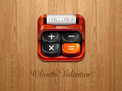 Olivetti Valentine  iphone apps ipad calculator typewriter