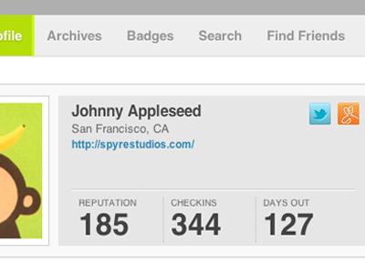 Foursquare profile design